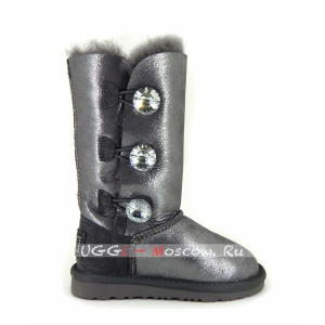 Ugg Kids Bailey Bling Tall Glitter - Black