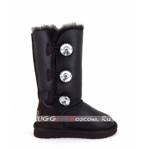 Ugg Kids Bailey Bling Tall Metallic - Chocolate