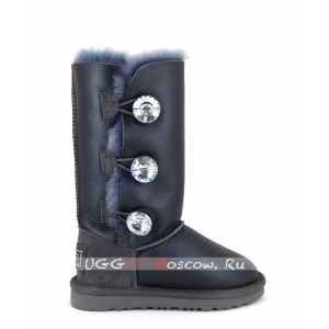 Ugg Kids Bailey Bling Tall Metallic - Grey