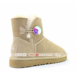 Ugg Women Mini Bailey Bling Diamond - Sand