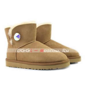 Ugg Women Mini Bailey Bling Diamond - Chestnut