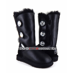 Ugg Kids Bailey Bling Tall Metallic - Black