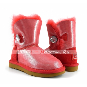 Ugg Kids Bailey Button Glitter Bling - Rose