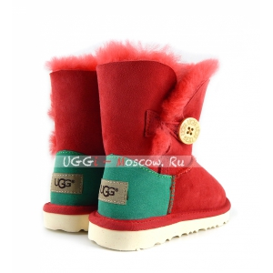 Ugg Kids Bailey Button - Red and Green