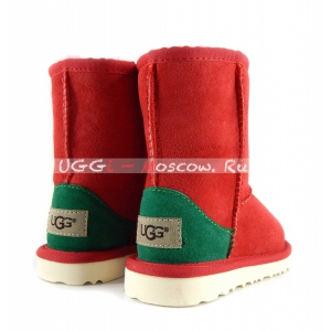 Ugg Kids Classic - Red and Green