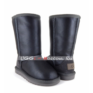 Ugg Kids Metallic II Tall - Grey