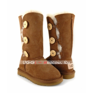Ugg Kids Bailey Button II Triplet - Chestnut