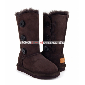 Ugg Kids Bailey Button II Triplet - Chocolate
