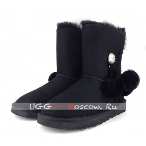 Ugg Women Bailey Button POM - Black