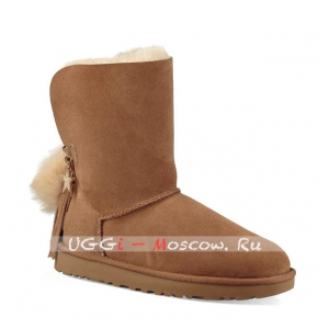 Ugg Women CHARM HELL HAIR BALL POM - Chestnut