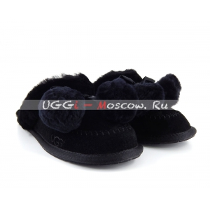 Ugg Slipper HAFNIR Pom - Black