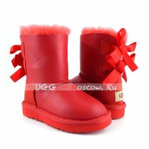 Ugg Kids Toddlers Bailey Bow Metallic - Red