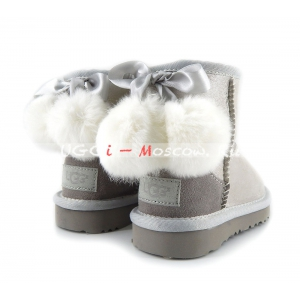 Ugg Kids Toddlers Bow Pom I DO - White