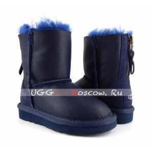 Ugg Kids ONE ZIP Metallic - Navy