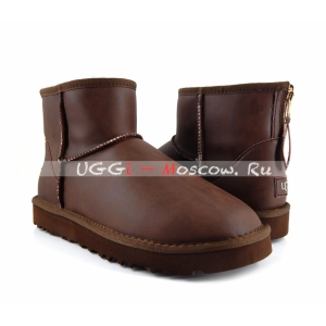 Ugg Men Classic Mini ZIP ROCK Metallic - Chocolate