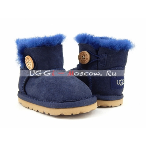 Ugg For Babies Bailey Button - Navy
