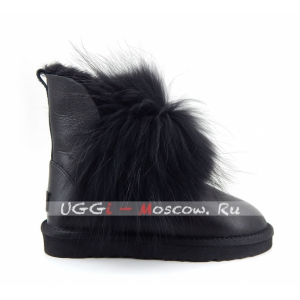 Ugg Women IRINA Fur Gun II Metallic - Black