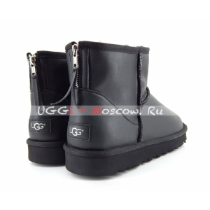 Ugg Men Classic Mini ZIP ROCK Metallic - Black