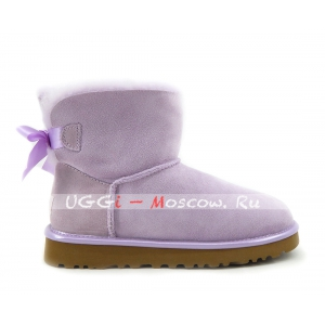 Ugg Mini Bailey Bow II Metallic - Lavender Fog