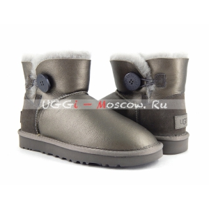 Ugg Bailey Button Mini II Metallic - Pewter