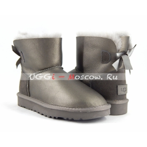 Ugg Women Bailey Bow II Mini Metallic - Pewter