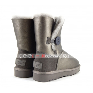 Ugg Women Bailey Button II Metallic - Pewter