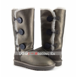 Ugg Women Bailey Button Triplet II Metallic - Pewter
