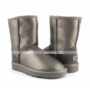 Ugg Women Classic Short II Metallic - Pewter