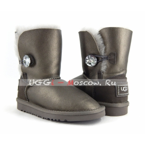 Ugg Kids Bailey Button Metallic Bling - Pewter