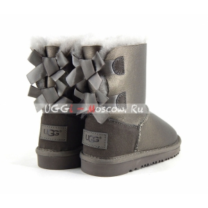 Ugg Kids Toddlers Bailey Bow II Metallic - Pewter