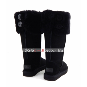 Ugg Boots Over The Knee Bailey Button II - Black