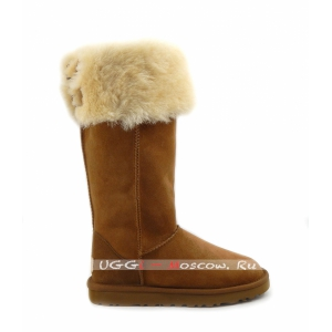 Ugg Boots Over The Knee Bailey Button II - Chestnut