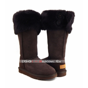 Ugg Boots Over The Knee Bailey Button II - Chocolate