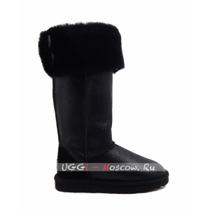 Ugg Boots Over The Knee Bailey Button II Bomber - Black