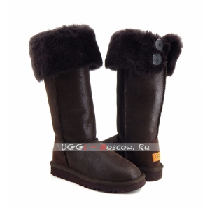 Ugg Boots Over The Knee Bailey Button II Bomber - Chocolate