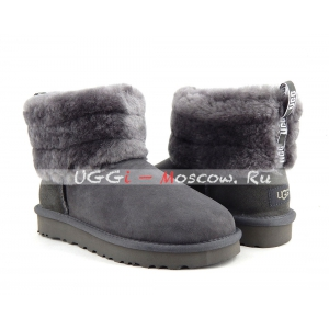 Ugg Classic Mini FLUFF QUILTED BOOT - Grey