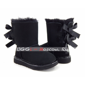 UGG Kids Bailey Bow II Metallic - Black