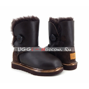 Ugg Kids Bailey Button II Metallic - Chocolate