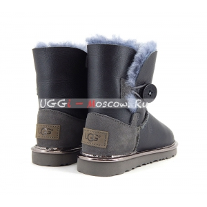 Ugg Kids Bailey Button II Metallic - Grey