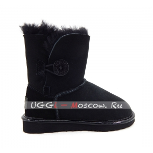 Ugg Kids Bailey Button II Suede Metallic - Black