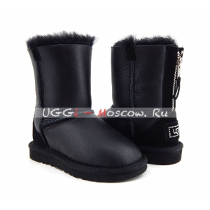 Ugg Kids ZIP Metallic - Black