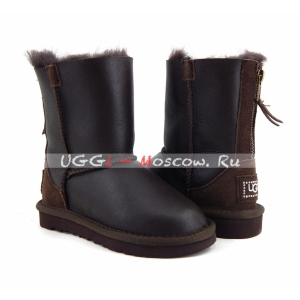 Ugg Kids ZIP Metallic - Chocolate