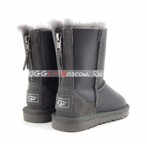 Ugg Kids ZIP Metallic - Grey