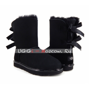 Ugg Women Bailey Bow II Metallic - Black