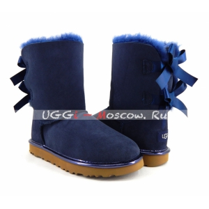 Ugg Women Bailey Bow II Metallic - Navy
