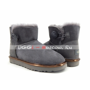 Ugg Women Bailey Button Mini II Metallic - Grey