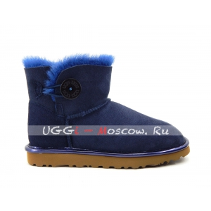 Ugg Women Bailey Button Mini II Metallic - Navy