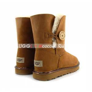 Ugg Women Bailey Button Short II Metallic - Chestnut