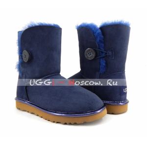 Ugg Women Bailey Button Short II Metallic - Navy