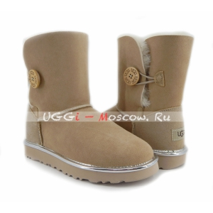Ugg Women Bailey Button Short II Metallic - Sand